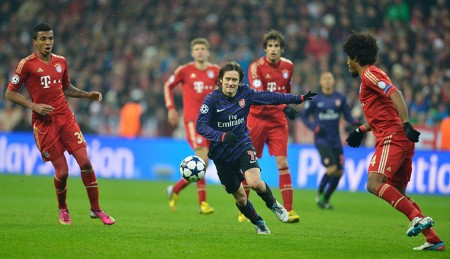Thanking the Guardian for being able to copy their pictures of the Bayern - Arsenal CL match.