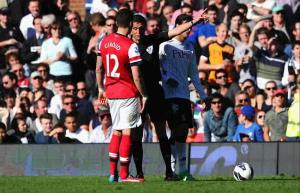 Giroud Red Card