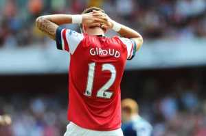Giroud has often disappointed many Arsenal fans this season.