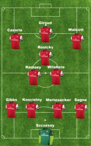 starting line-up Totts