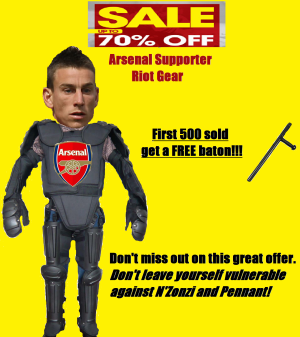 Arsenal riot gear