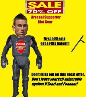 Arsenal riot gear
