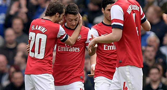 The superb but always humble Ozil played one of  his best games for Arsenal against Everton.