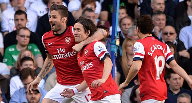 A venomous bullet by Rosicky early on decided the game. What a goal! (thanking VI International for picture)