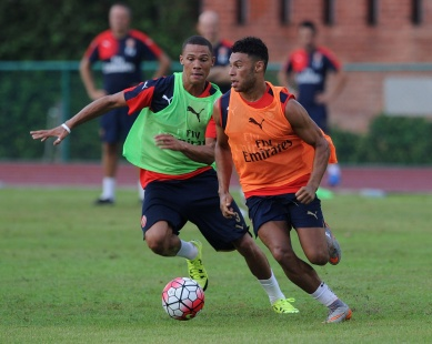 Thanks to www.Arsenal.com for training picture