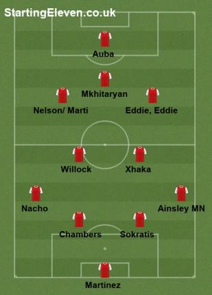 starting v Angers