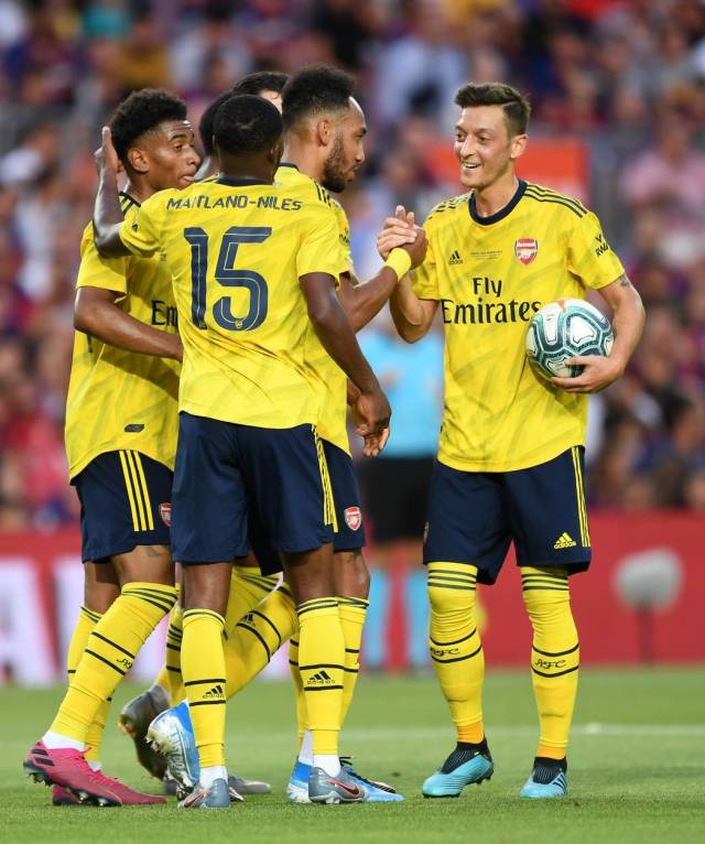 Auba and Mesut