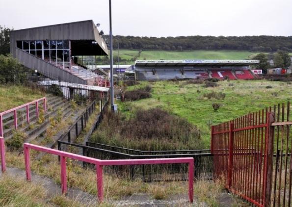 football ground deserted
