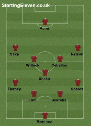 Liv v Arsenal lineup